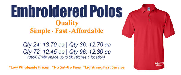 Custom Embroidered Polos
