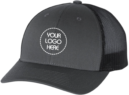 Low Profile Trucker Hat- Black Mesh