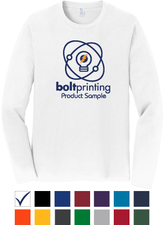 best deal super soft long sleeve shirt by bolt printing style # bdss