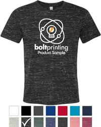 Textured Poly-Cotton T-Shirt