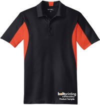 Moisture Wicking Colorblock Polo Shirt - Black Body