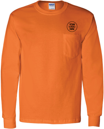 Ultra Cotton Long Sleeve Pocket Tee