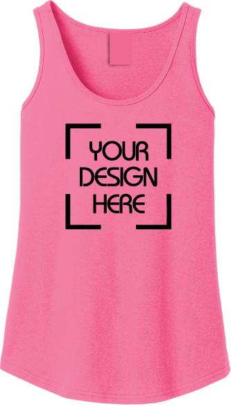 Ladies Garment Dyed Tank Top