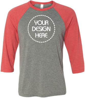 Super Soft Raglan Baseball Shirts - Grey Body