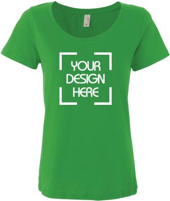 Lightweight Scoopneck T Shirt