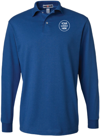 Jersey Long Sleeve Polo Shirt