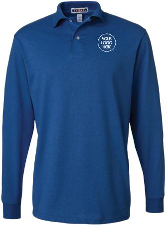Jersey Long Sleeve Polo Shirt