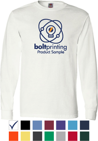 best deal cotton long sleeve t-shirt by bolt printing style # bd54ls