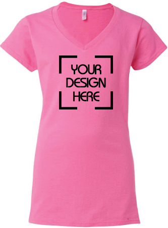 Softstyle Ladies V-Neck T-Shirt Junior Fit