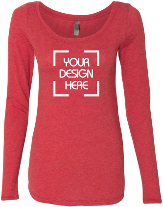 Ladies Triblend Long-Sleeve Scoop