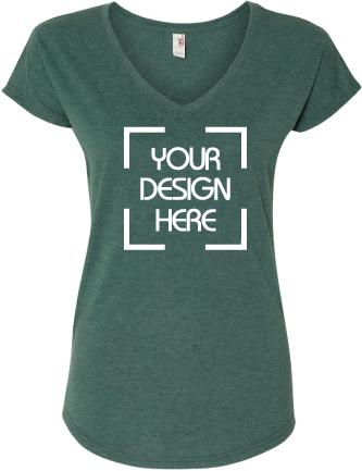 Triblend V-Neck T-Shirt Missy Fit