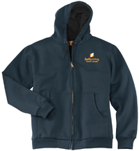 Thermal Lining Heavyweight Full-Zip Hooded Sweatshirt