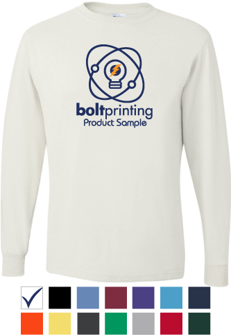 best deal comfort blend long sleeve tee by bolt printing style # bd55ls