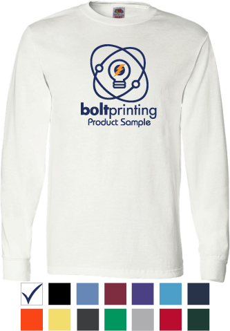 best deal 100% cotton long sleeve t-shirt by bolt printing style # bd54ls