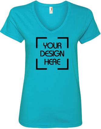 Ladies Lightweight V-Neck T-Shirt