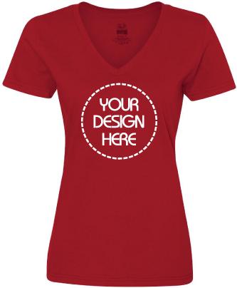 Ladies Jersey Cotton V-Neck Shirt