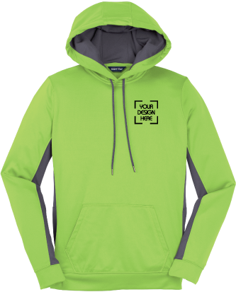 Ladies Sport-Wick Color Block Hoodie | Hooded Pullover