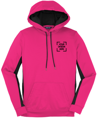 Ladies Color Block Hooded Pullover | Sport-Wick Fleece Hoodie