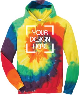 Rainbow Tie-Dyed Hoodie | Tie Dye Sweatshirt