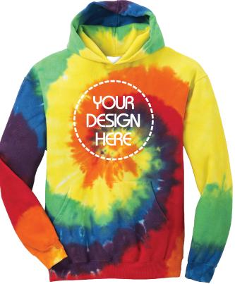 Youth Rainbow Tie-Dyed Hoodie | Tie Dye Sweatshirt