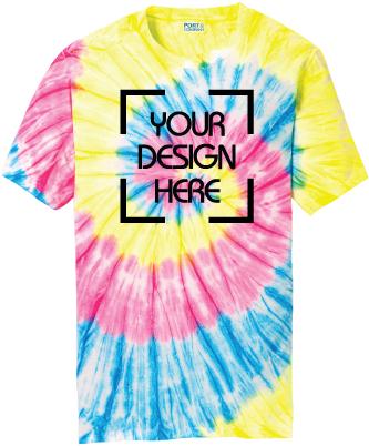 Neon Rainbow Tie-Dyed T-Shirt   Tie Dye Tee