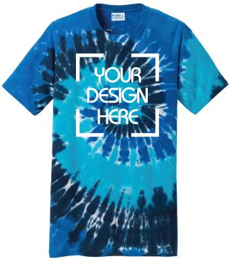 Ocean Rainbow Tie-Dyed T-Shirt