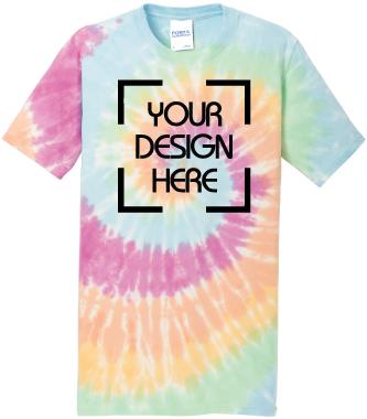 Pastel Rainbow Tie-Dyed Tee   Tie Dye T-Shirt