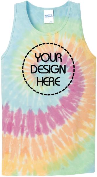 Pastel Rainbow Tie-Dye Tank Top