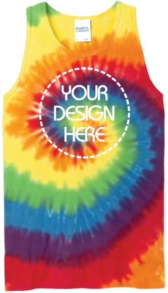 Rainbow Tie-Dye Tank Top