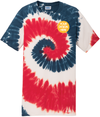USA Rainbow Tie-Dyed T-Shirt | USA Rainbow Tie Dye Tee