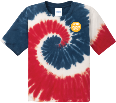 Youth USA Rainbow Tie-Dyed T-Shirt
