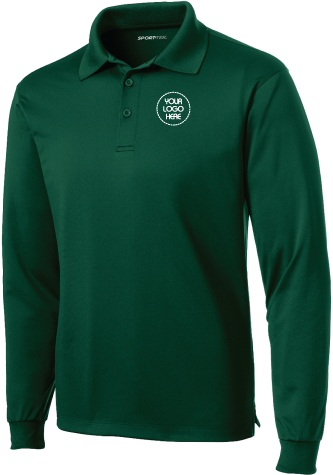 Micropique Performance Long Sleeve Polo Shirt
