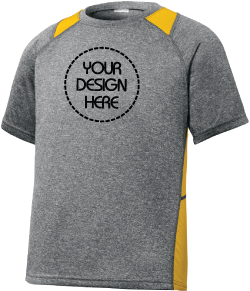 Youth Performance Heather Colorblock Tee