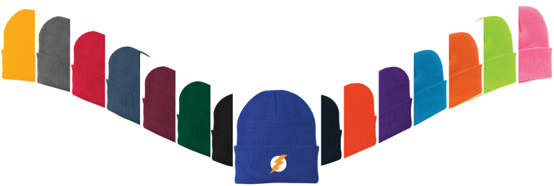 custom beanies in assorted colors