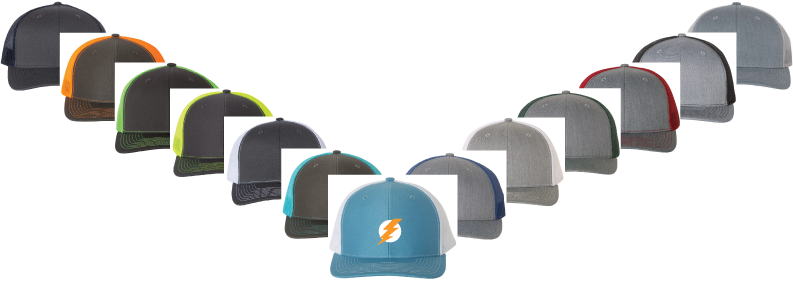 custom richardson 112 hats in assorted colors