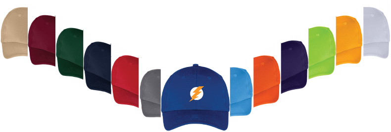 custom hats in assorted colors