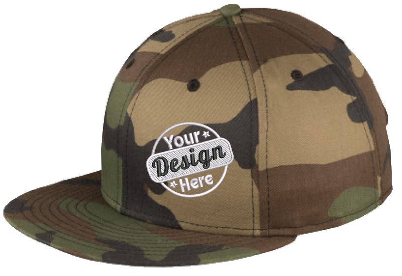 New Era Embroidered Flat Cap